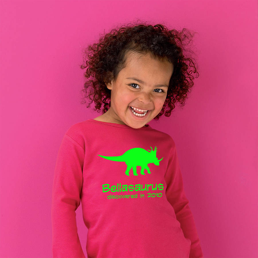 personalised dinosaur t shirt by simply colors
