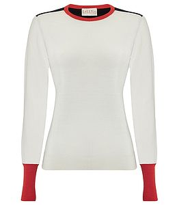 Color Block Soft Merino Wool Jumper