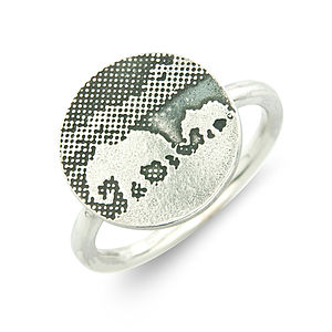 Silver Mother And Baby Elephant Ring
