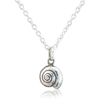 Little Sterling Silver Seashell Necklace