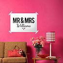 Mr And Mrs Wedding Or Anniversary Print
