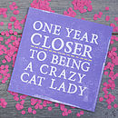 'Crazy Cat Lady' Card