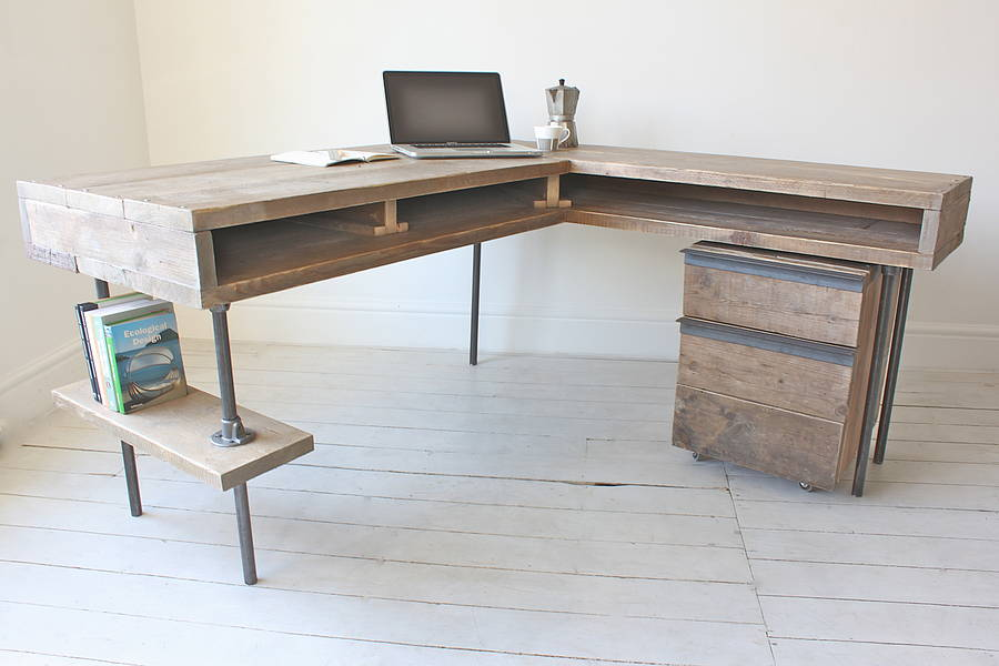 Stuart Industrial Reclaimed Board Corner Desk By Urban