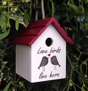 Love Birds Birdhouse - gifts for grandparents
