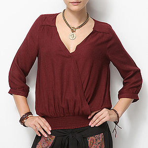 Crossover Blouse Top - tops & t-shirts