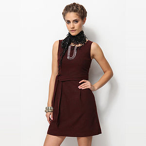 Sheath Dress With Belt - dresses