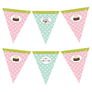 Baking Themed Bunting - children's room accessories