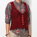 Knitted Wool Cardigan Maroon