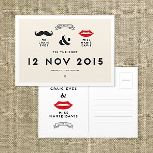 Retro Save The Date Postcard - save the date cards