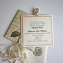 Lovebirds Vintage Style Wedding Invitations