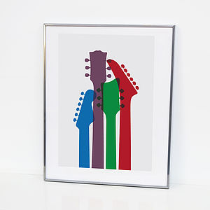 Guitar Head Print - music inspired home accessories