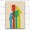 cream coloured guitar illustration