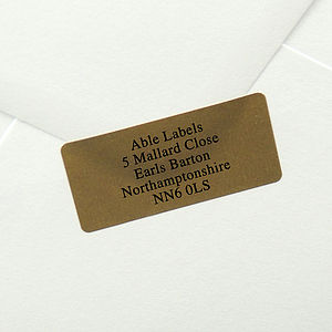 Gold Labels On A4 Sheets 19x40mm