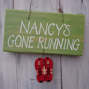 Personalised Running Sign - signs