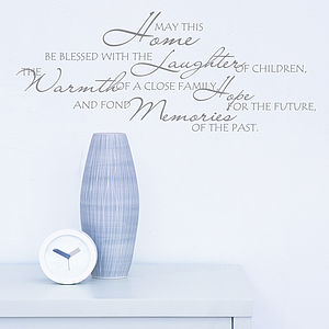 'May This Home Be Blessed' Wall Sticker - wall stickers