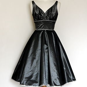 Taffeta Sweetheart Party Dress - dresses