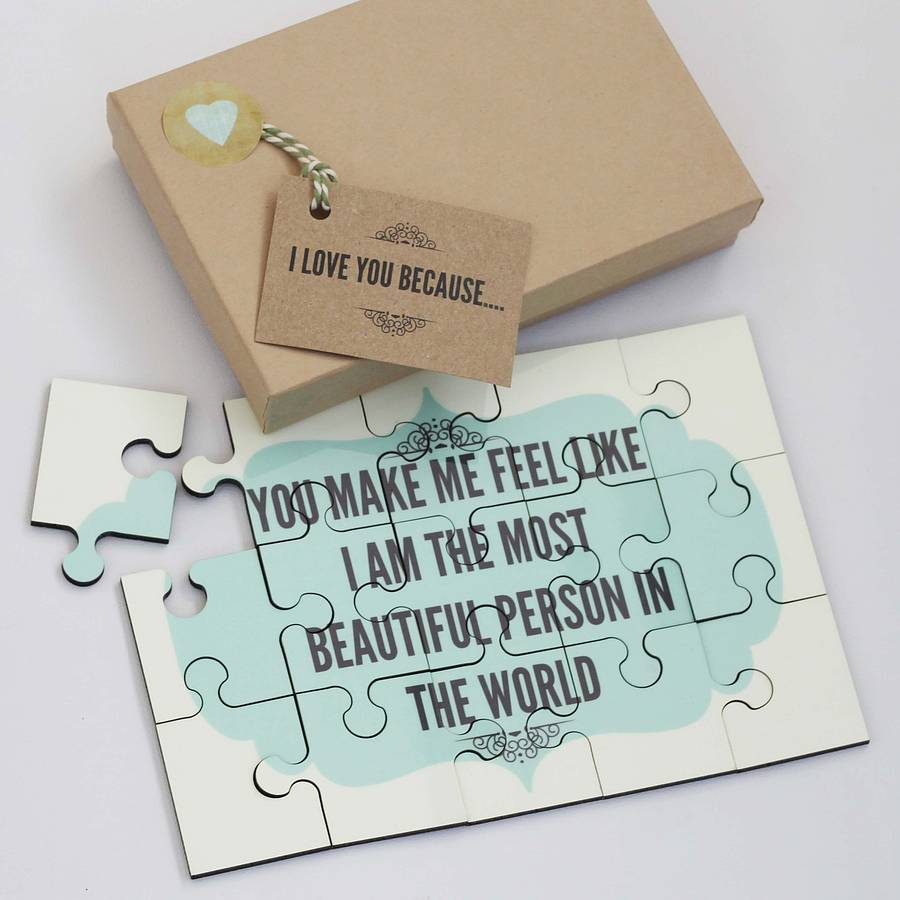 I Love You Because: Personalised 'i Love You…' Message Jigsaw Puzzle By Lou