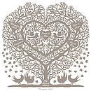 Family Tree with 5 hearts