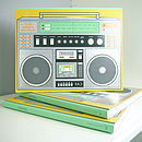 Retro 80s Boombox Journal