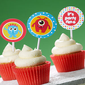 Monster Cupcake Toppers - children's parties