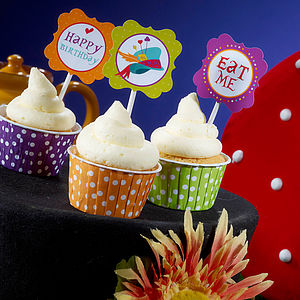 Mad Hatter Cupcake Toppers - kitchen