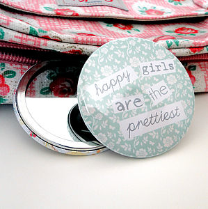 'Happy Girls' Pocket Mirror