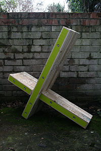 Wood X Chair - garden furniture