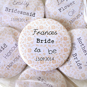 Personalised Floral Bridal Or Hen Party Mirrors - wedding fashion
