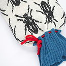 Beetle Knitted Hot Water Bottle Cover