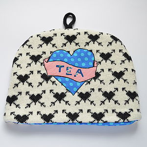 Vintage Love Tea Tattoo Knitted Tea Cosy