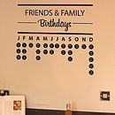 Birthday Planner Wall Sticker