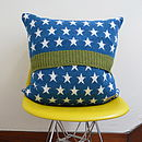 Fox Terrier Knitted Lambswool Cushion