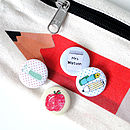 Personalised Set Of Four Back To School Badges