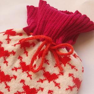 Valentine Heart Knitted Hot Water Bottle - bedroom