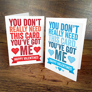 Bold Personalised Valentines Card - personalised cards