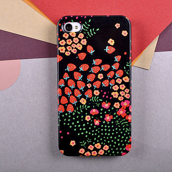 'Strawberries' Design By Anja Jane For iPhone
