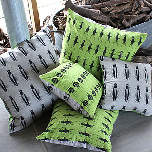 Insect Cushions - soft furnishings & accessories