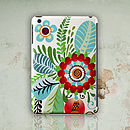 'Folk Rosemaling' Flower Design iPad Case
