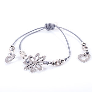 Flower Friendship Bracelet - charm jewellery
