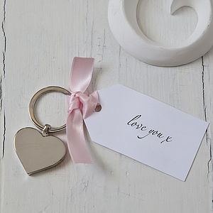Valentine's Day Heart Keyring And Tag - love tokens