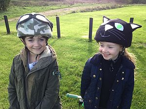 Child's Army Hi Vis Helmet Cover - half term activities