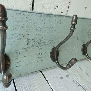 Reclaimed Wood Coat Hook Board - storage & organisers