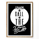 'Disco Ball' Quote Graphic Print