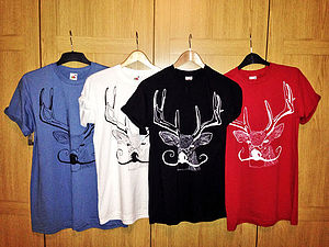 Illustrated Deer T Shirt