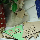 10 Wooden Bunting Flags