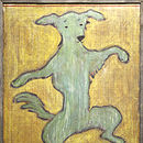 Dancing Dog Large Wooden Art Print