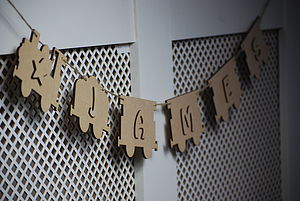 Personalised Train Wooden Bunting - children's room