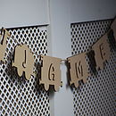 Personalised Train Wooden Bunting