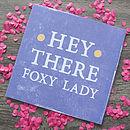 'Foxy Lady' Card