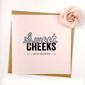 Personalised Sweet Cheeks Valentines Card - personalised cards